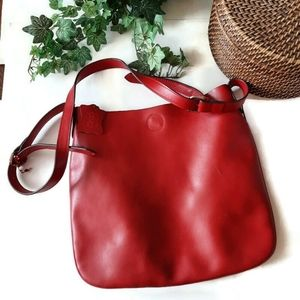Red leather large bag by Co Lab